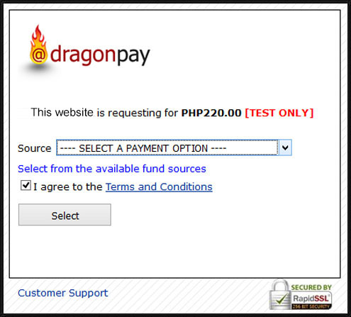 Dragon Paymenrt Method